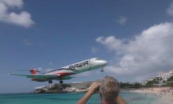 PAWA MD-80 St Maarten Landing Approach
