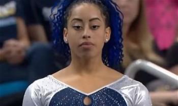 UCLA's Sophina DeJesus Redefining Floor Gymnastics; Dab, Whip, Nae-Nae Routine Goes Viral, Team Ekes Out Victory