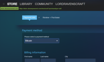 Steam Now Lets You Buy Games With Bitcoin