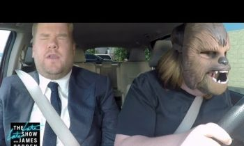 Chewbacca Mom Takes James Corden to Work