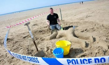 Artistic Or Offensive? Police Create Dead Woman Sandcastle For Funsies