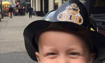 Firefighter Embraces 3-Year-Old With Cancer, Makes His Dream Come True