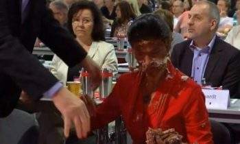 High-Ranking German Lawmaker Attacked With Chocolate Pie During Session Over Her Controversial Anti-Refugee Stance