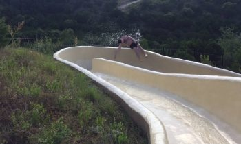 Dallas man slips off waterslide and crashes