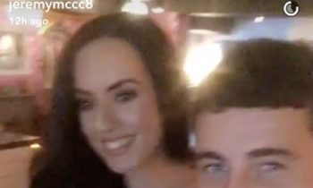 Jeremy McConnell cosies up to a Stephanie Davis look-alike