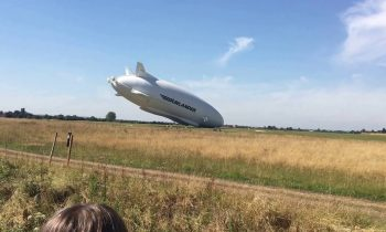 Airship crash, Airlander 10 crashing into the ground cardington shed airship