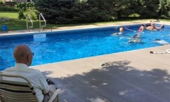 94-Year-Old Installs Pool For Neighborhood Kids After His Wife Of 66 Years Passes