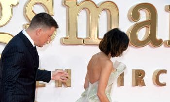 Jenna Dewan Tatum Wore a Sheer Dress, and Channing Tatum Couldn't Take His Eyes Off Her