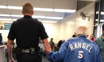 Bank Tells Elderly Man He Has To Leave, Cop Brings Him Back To Get The Job Done