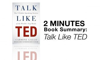 2 Minutes Book Summary: Talk Like TED