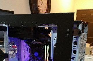 Stretched PC Case Turned GPU Cryptominer