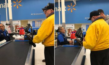 A Young Man Tells A Veteran and#039;Iand#039;m Grateful For Youand#039; And Pays For His Items At Walmart