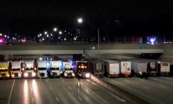 Semi Truck Drivers Line Michigan Highway To Save Suicidal Man