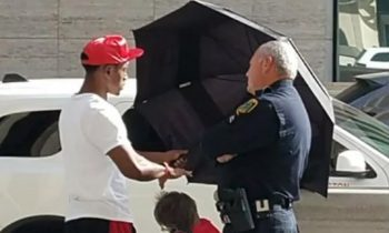 Teen Uses Umbrella To Shade Elderly Woman For Nearly 2 Hours At Bus Stop