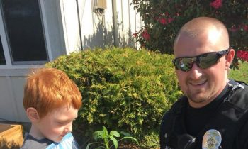 Police Officer Returns and#039;Stolenand#039; Pepper Plant To Little Boy