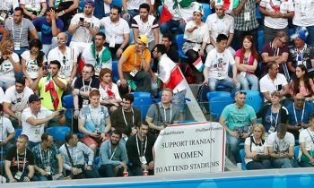 Iranian Fans Hold Banners At World Cup In Support Of Women
