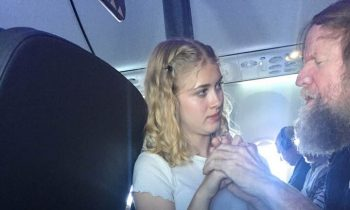 No One Could Help This Man On The Plane, Then A Teenager Walks Up And Grabs His Hands