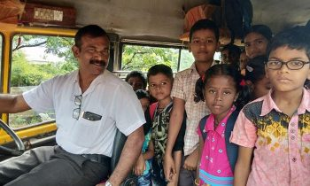 Teacher In India Buys A Bus And Picks Up Students Every Morning So No One Drops Out Of School