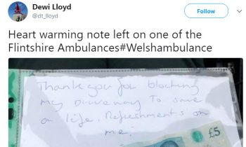 Paramedics Had To Block A Homeownerand#039;s Driveway, Return To Find Heartwarming Note