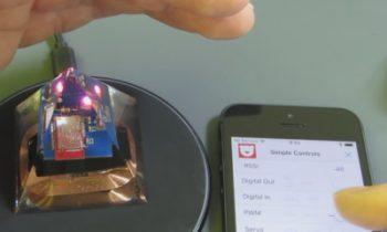 Epoxy Embedded Electronic Art Running On Pyramid Power